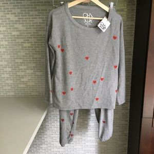 NWT Chaser Tiny Hearts Sweater Set Loungewear